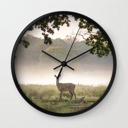 Richmond Park -58, September 2015 Wall Clock