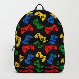 Gaming joystick pattern on black Backpack