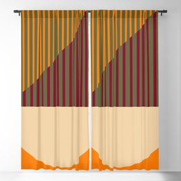 Geometric Abstract - Spring-Pantone Warm color Blackout Curtain