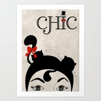 chic Art Prints featuring Chic by Aleksandra Mikolajczak