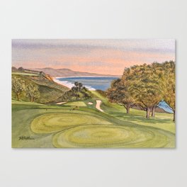 Torrey Pines South Golf Course Hole 6 Canvas Print