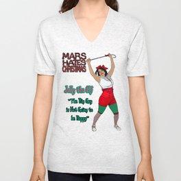 Mars Hates Christmas - Jolly Happy Unisex V-Neck