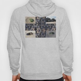Cornwall Mussels and other Low Tide Beach Photo Composite Newquay Cornwall Hoody