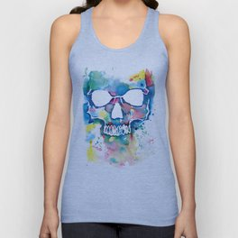 Color Skull Unisex Tank Top