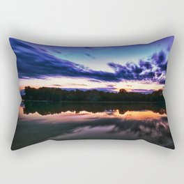 Sunset on Alum Creek Galena, Oh. Rectangular Pillow