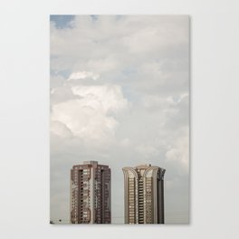 Big buidings used contemporary architecture Canvas Print
