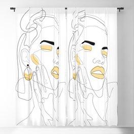Lemon Splash Blackout Curtain
