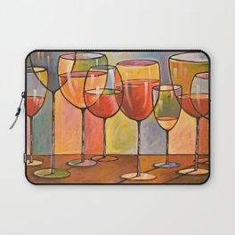 Whites and Reds ... abstract wine glass art, kitchen bar prints Laptop Sleeve