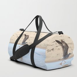Seagull bird taking off Duffle Bag