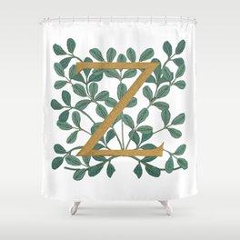 Forest Letter Z Lite 2020 Shower Curtain