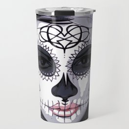 Sugar Skull Girl Travel Mug