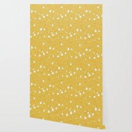 Modern Farm House Polka Dots Mustard Wallpaper