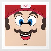 super mario Art Prints featuring Super Mario by Shakeel