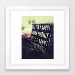 Create Yourself.  Framed Art Print