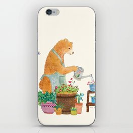 Mr. Bear, the Gardener iPhone Skin