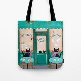 Paris Cafe for Cats Tote Bag
