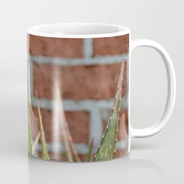cactus and brick wall Coffee Mug