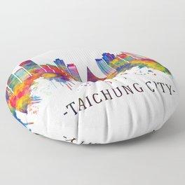 Taichung City Taiwan Skyline Floor Pillow