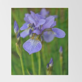Siberian Iris by Teresa Thompson Throw Blanket