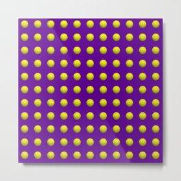 Mardi Gras Purple with yellow dots Metal Print
