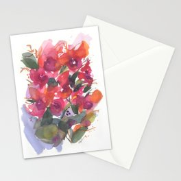 Red Orchid Splash Stationery Cards