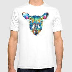 Colorful Sheep Art - Shear Color - By Sharon Cummings White Mens Fitted Tee MEDIUM