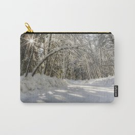 Covered in White Carry-All Pouch