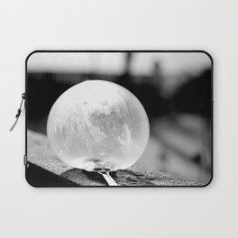 Black and White Frozen Bubble Laptop Sleeve