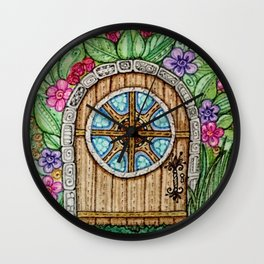 A door to Where? Wall Clock