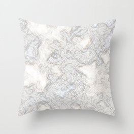Paper Marble Throw Pillow