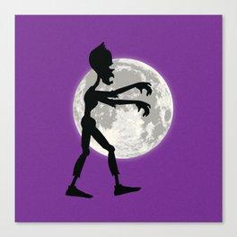 Friendly Zombie On The Go - Walk Canvas Print