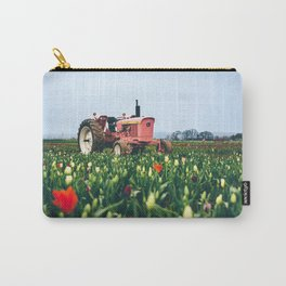 John Deere Tractor at Tulip Farm Carry-All Pouch
