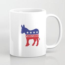 Pennsylvania Democrat Donkey Coffee Mug