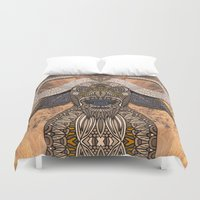 african Duvet Covers featuring African Buffalo by ArtLovePassion