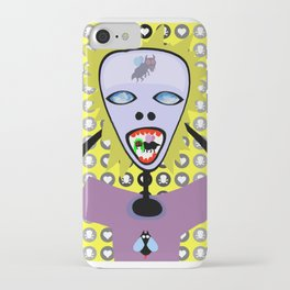 Mosquito play hide and seek love game while I am staring at the clouds passing by iPhone Case