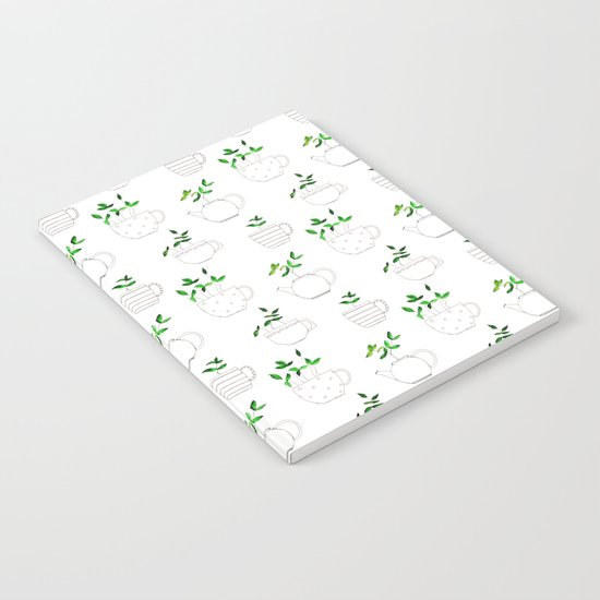 Tea plants in tea cups Notebook