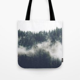 Abstract Forest Fog Tote Bag