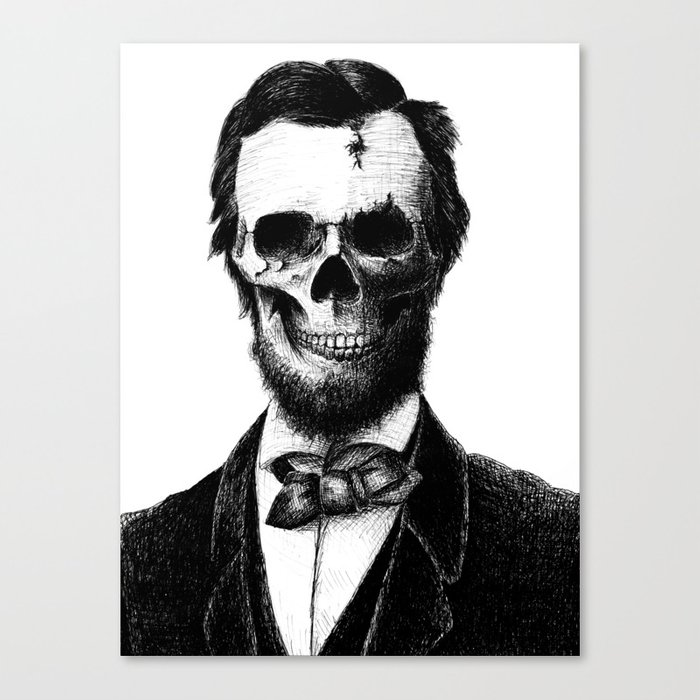 photo about Printable Pictures of Abraham Lincoln known as Abraham Lincoln Canvas Print