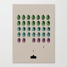 Faceinvaders Canvas Print