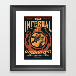 Infernal Nail Amber Ale | FFXIV Framed Art Print