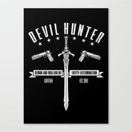 Devil Hunter Canvas Print