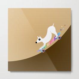 Skate dog Metal Print