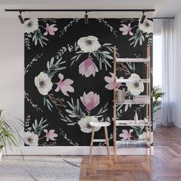Magnolias, Eucalyptus & Anemones Wall Mural