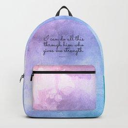 Philippians 4:13, Inspiring Bible Verse Backpack