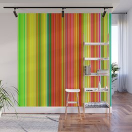Rainbow Glowing Stripes Wall Mural