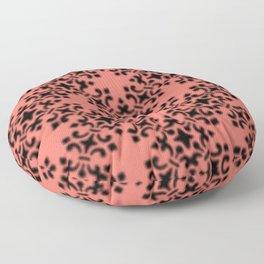 Vintage Brocade Damask Peach Echo Floor Pillow