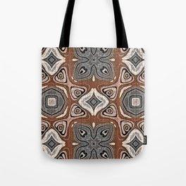 Gray Brown Taupe Beige Tan Black Hip Orient Bali Art Tote Bag
