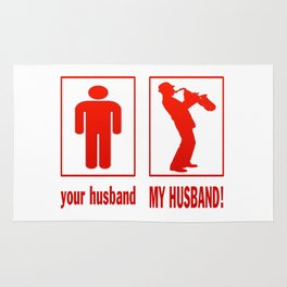 TRUMPET PLAYER - MY HUSBAND Rug