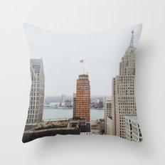 Architectual Variety - Detroit, MI Throw Pillow