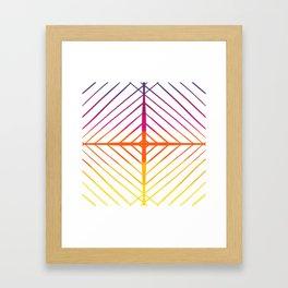 Sunset Gradient Lines Framed Art Print